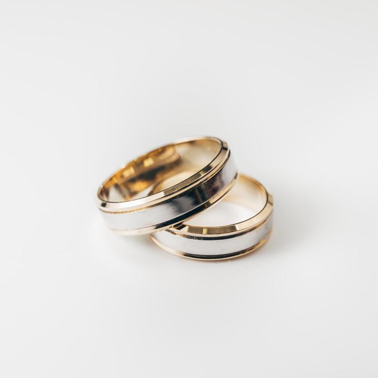 Obrączki ślubne dwukolorowe M-4